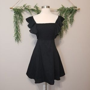 NWT Aqua Black Dress Tie Back Small